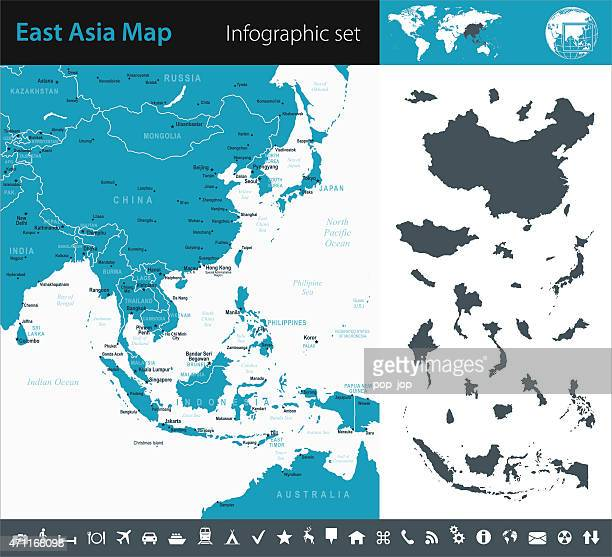 Southeast Asia - Infographic map - illustration