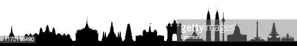 東南アジア(完成、移動、詳細な建物) - ミャンマー点のイラスト素材/クリップアート素材/マンガ素材/アイコン素材