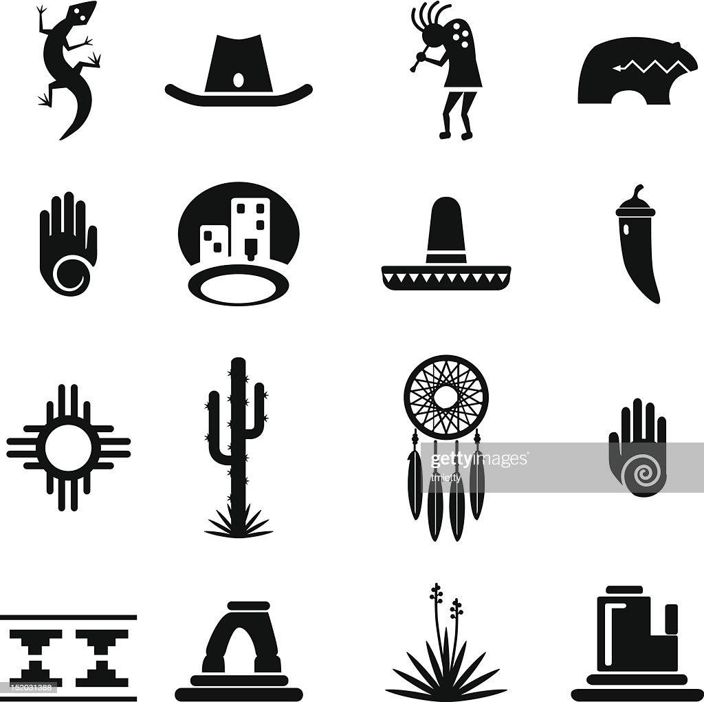 Southwest Icons Set