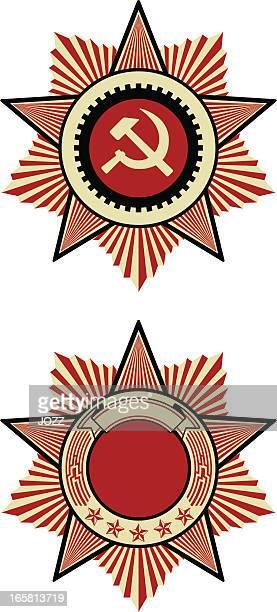 soviet emblem - russia stock illustrations
