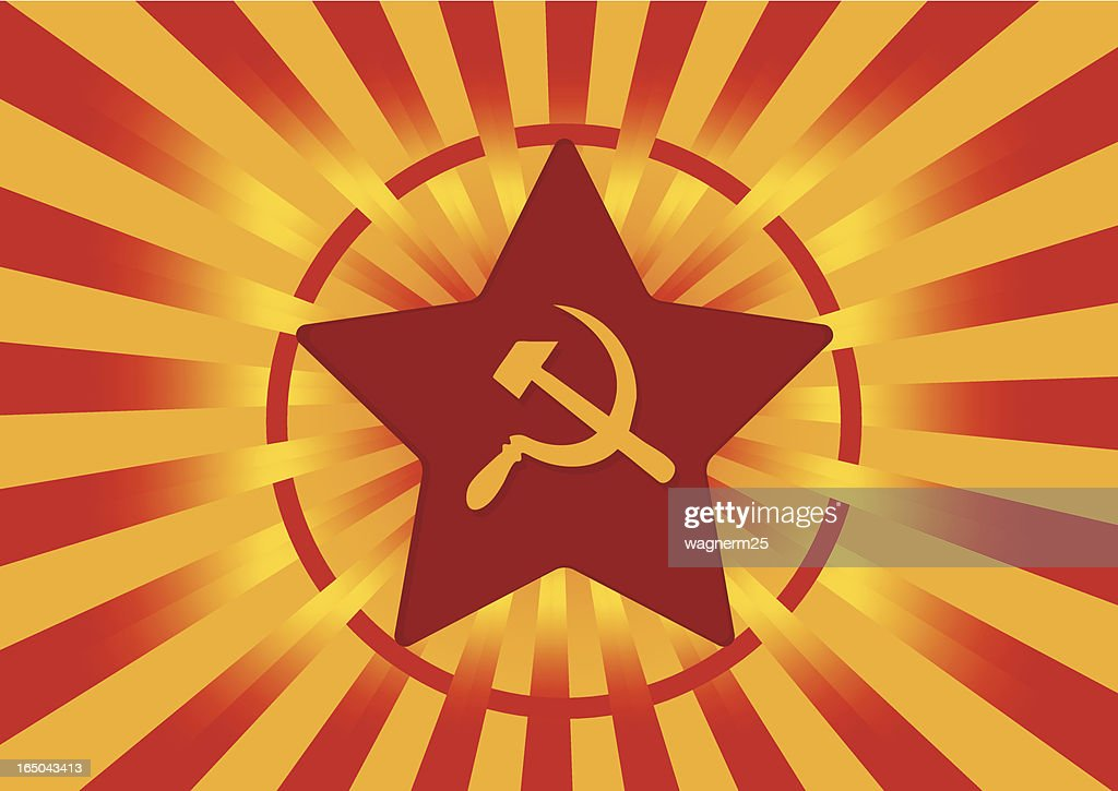 Soviet Flag With Hammer And Sickle Symbol Vector Art ...