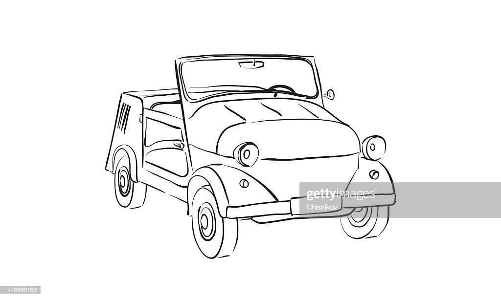 Soviet old-timer car