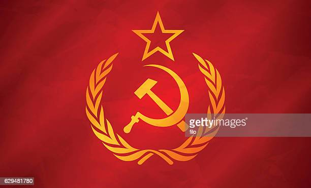soviet union flag concept - russian culture stock illustrations