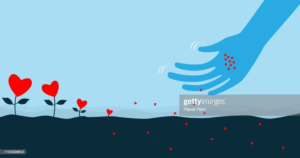 Sowing the seeds of love : stock illustration
