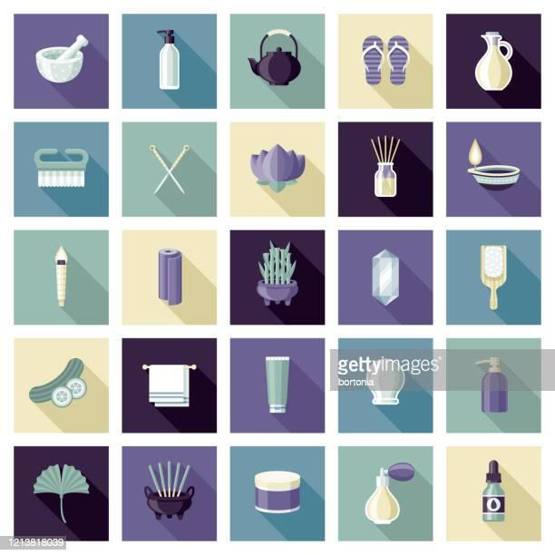 スパ&ビューティーアイコンセット - 代替医療点のイラスト素材/クリップアート素材/マンガ素材/アイコン素材