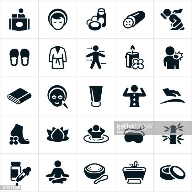 Spa and Massage Therapy Icons