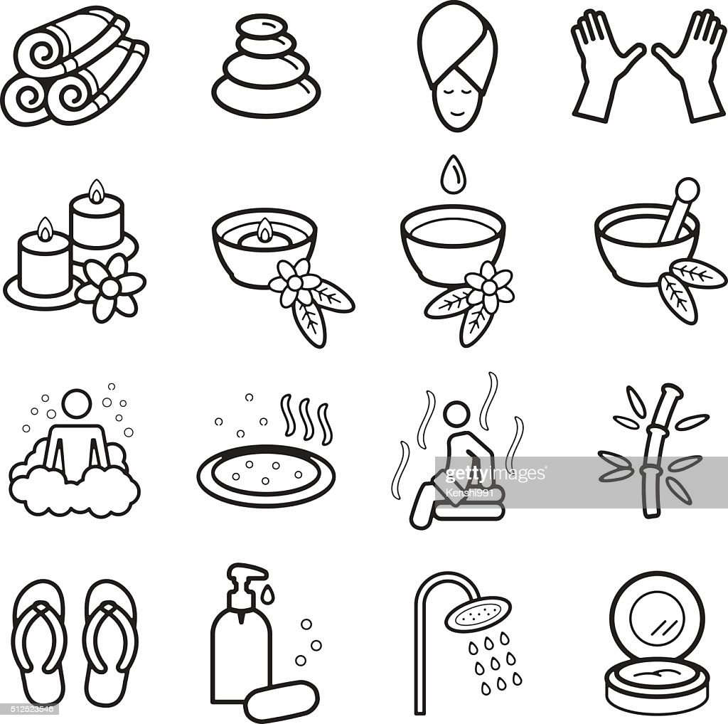 Spa icons set. Vector eps 10.