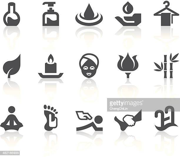 Iconos de Spa/Simple de la serie Black