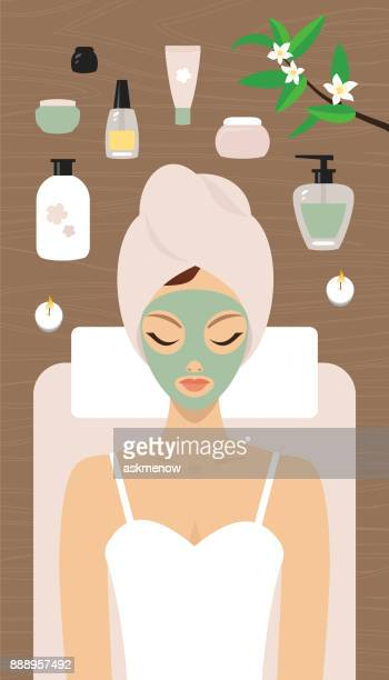 spa relaxation - purity stock illustrations