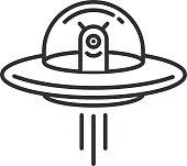 Space Aliens. UFO icon.