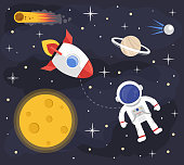 Space astronaut rocket background