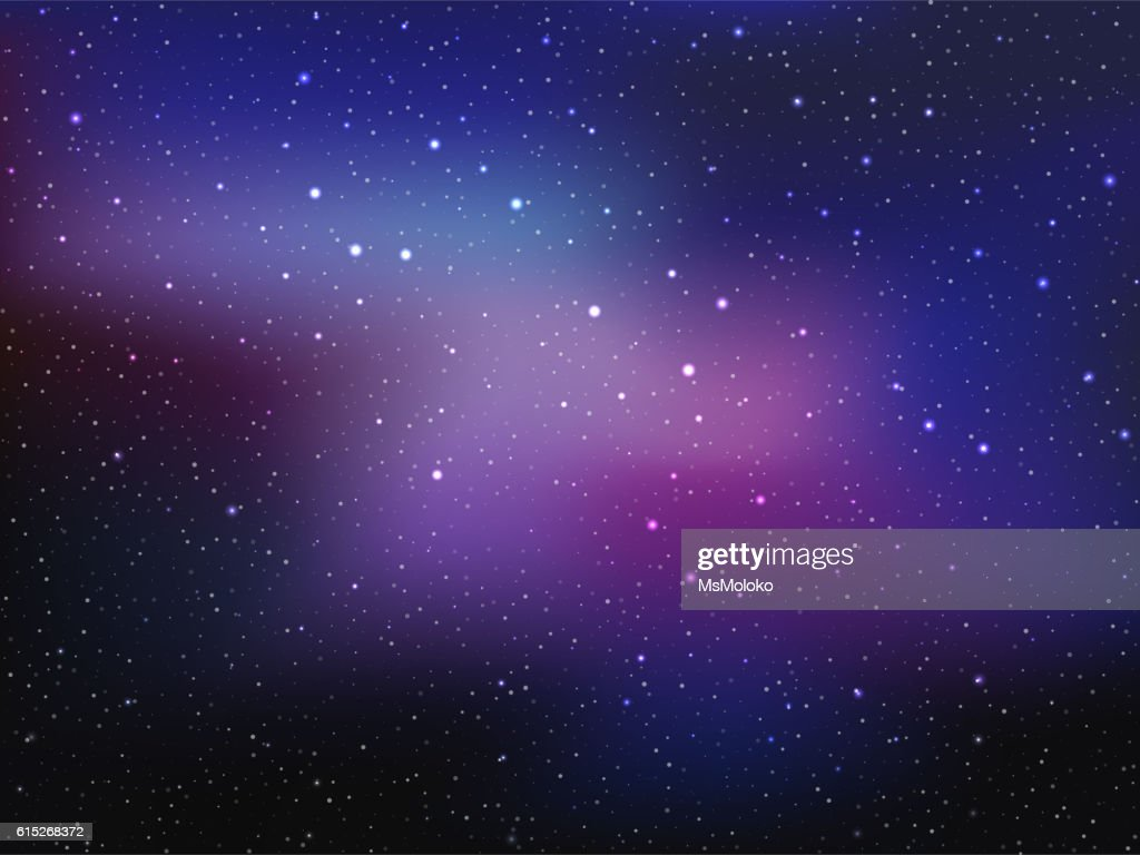Space background with stars and patches of light. Abstract astronomical