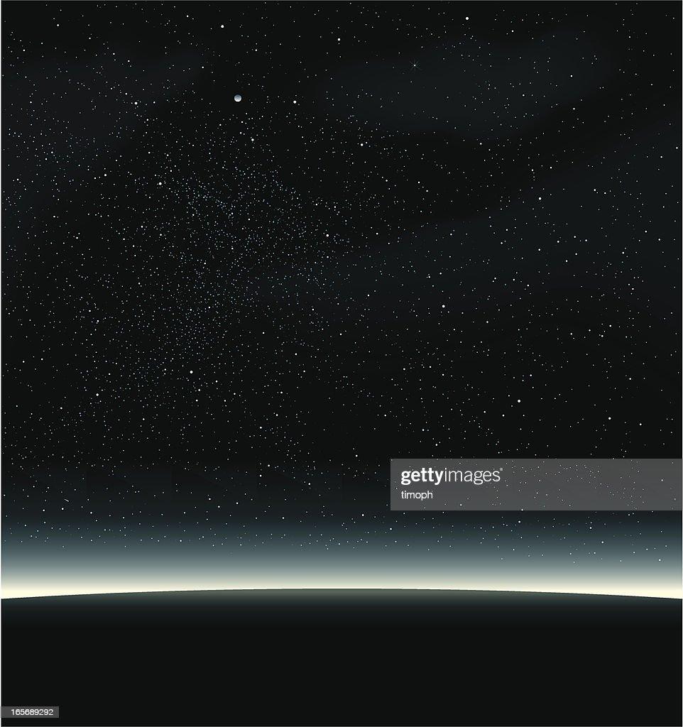 Space black : stock illustration
