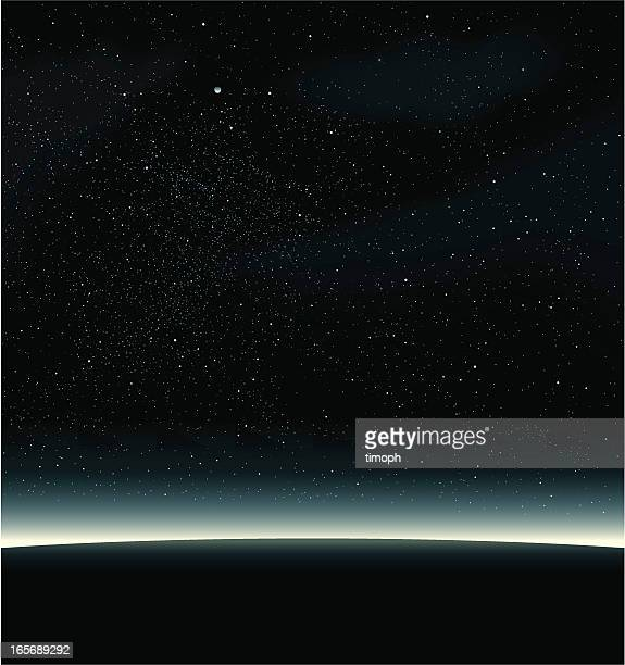 space black - horizon stock illustrations, clip art, cartoons, & icons