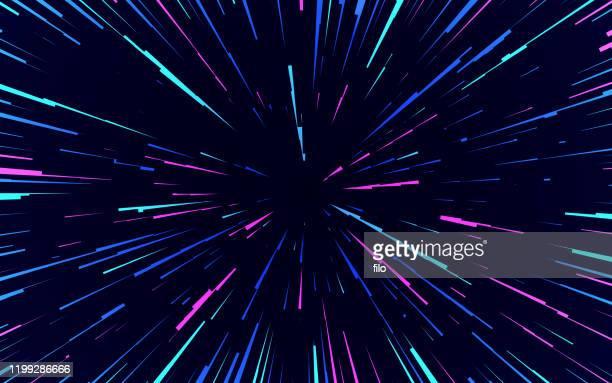 illustrazioni stock, clip art, cartoni animati e icone di tendenza di sfondo astratto di space blast - profondo