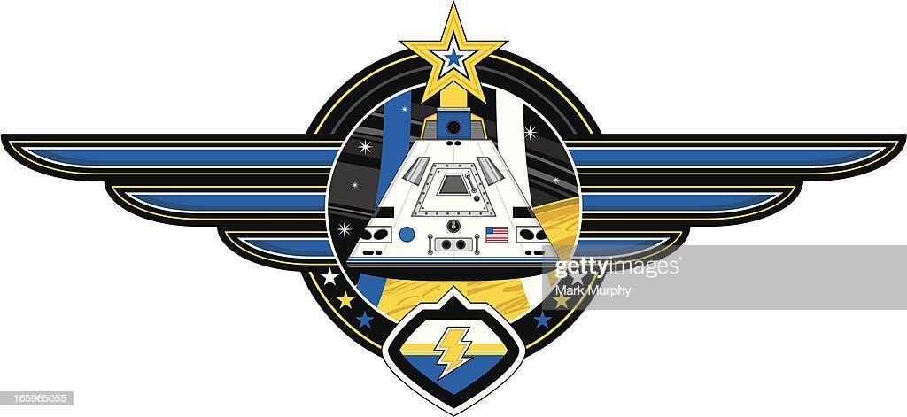 Space Capsule Badge