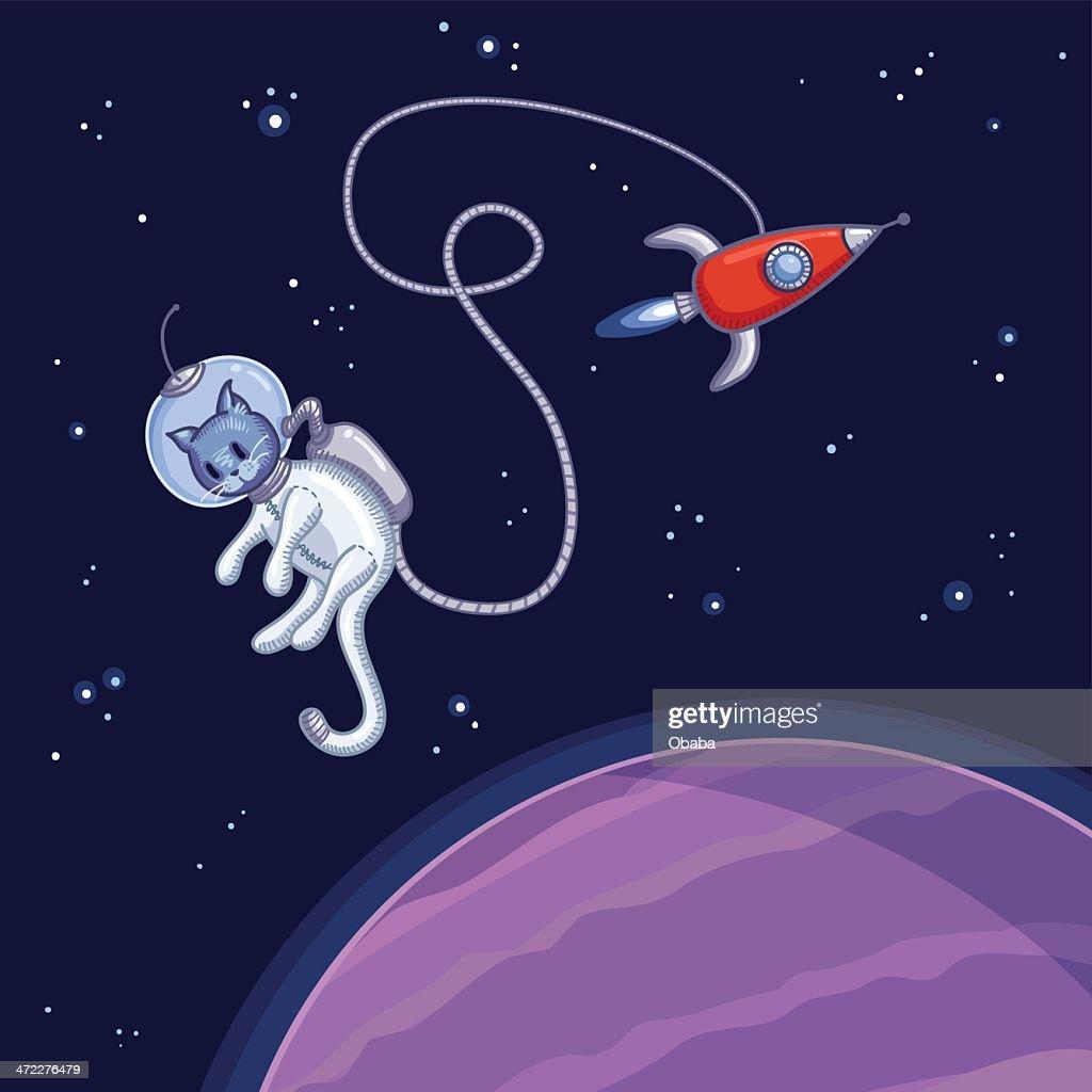 Space cat : Vector Art