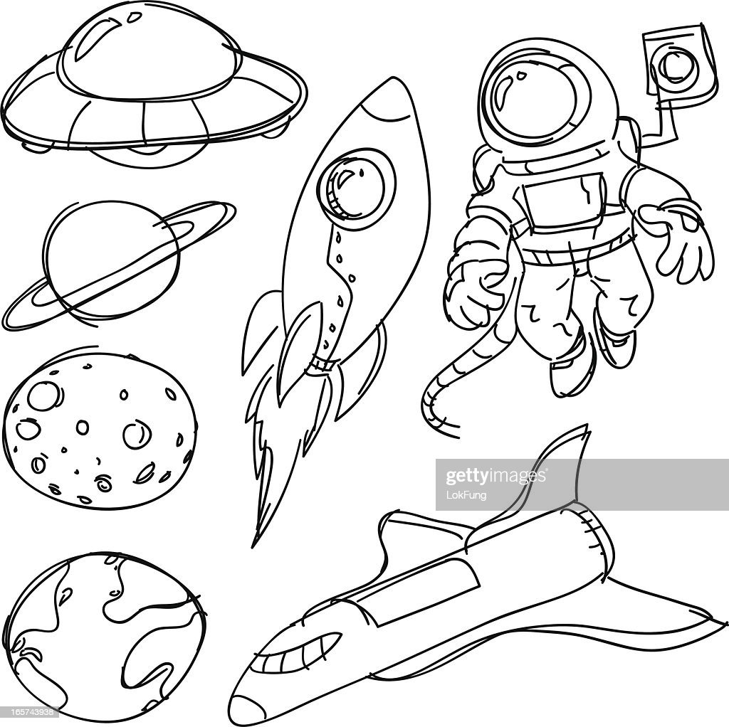 Space catoon collection : Stock Illustration
