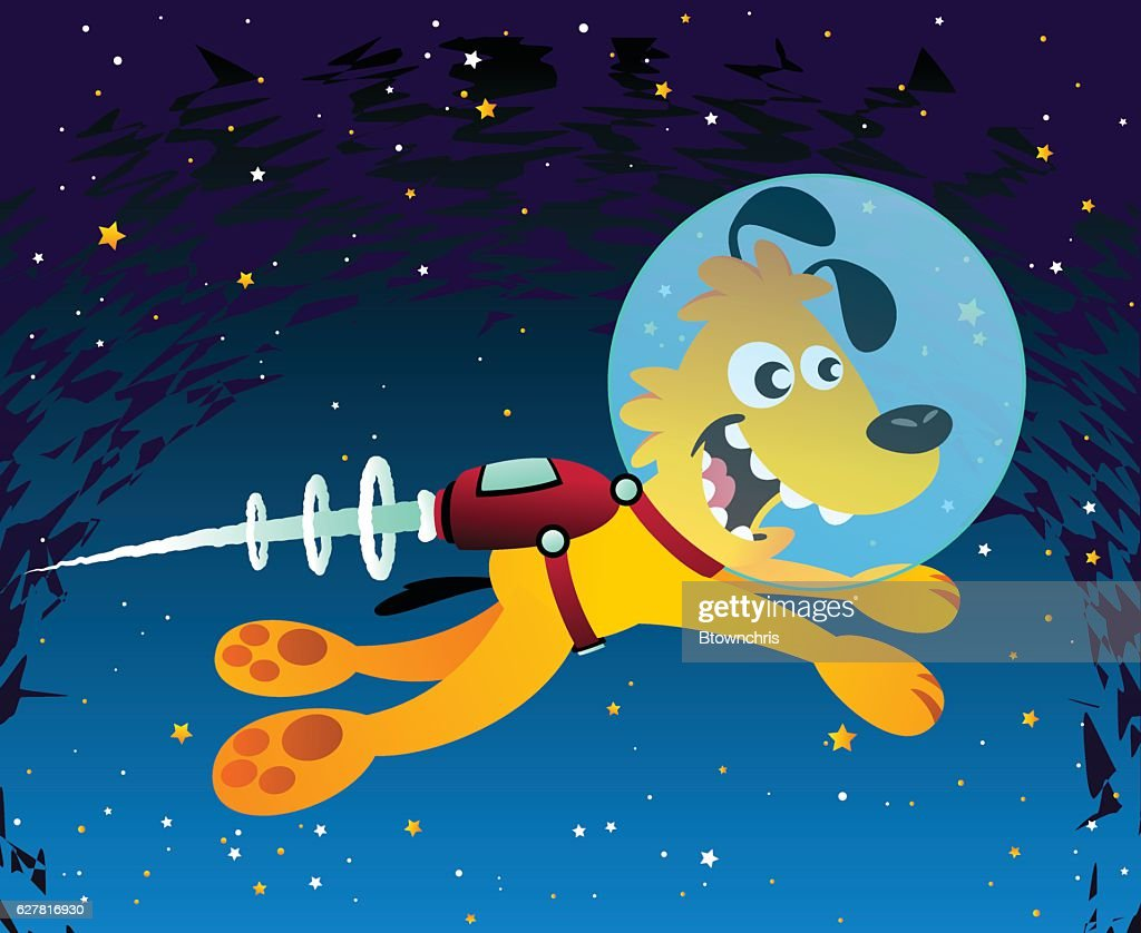 Space Dog : Vector Art