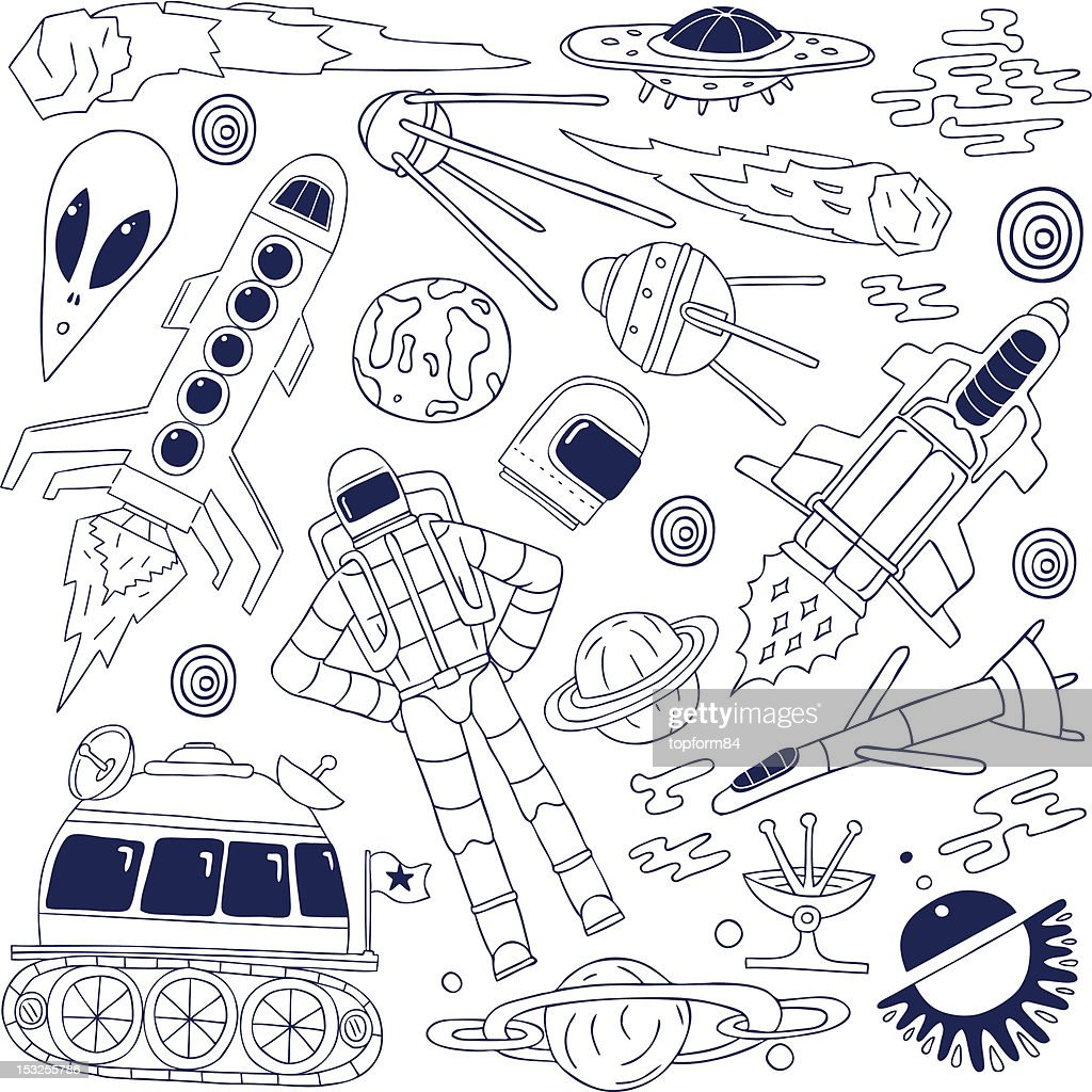 space - doodles collection