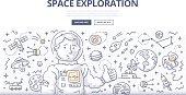 Space Exploration Doodle Concept