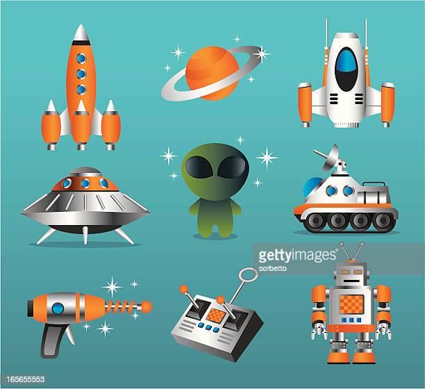 Exploração Espacial conjunto de ícones