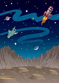 Space for Kids With Rockets And Planets