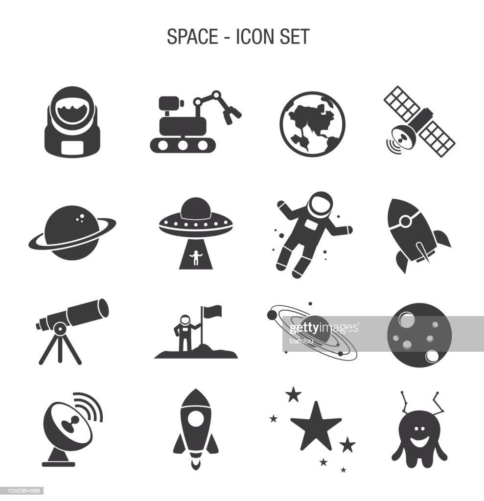 Space Icon Set : stock illustration