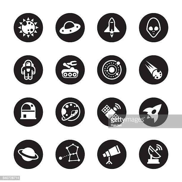 Space Icons - Black Circle Series