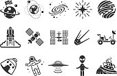 Space icons - Illustration