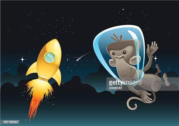 raum monkey - fire ape stock-grafiken, -clipart, -cartoons und -symbole