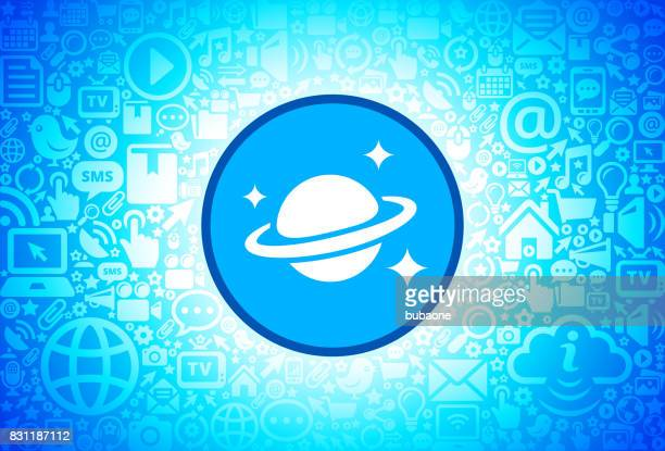 Space & Planet Icon on Internet Technology Background