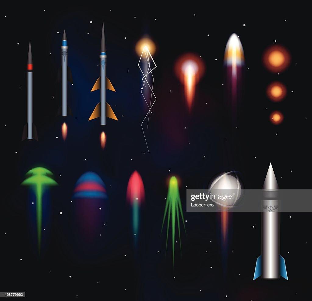 Space plasmas, laser beams and rockets