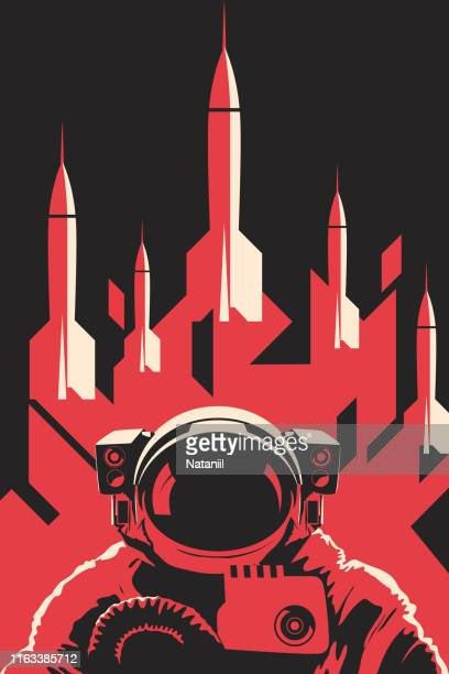 space poster - space exploration stock illustrations