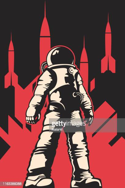 space poster - space helmet stock illustrations