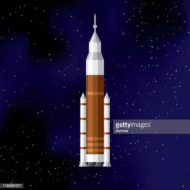 space rocket icon - ship launch stock illustrations