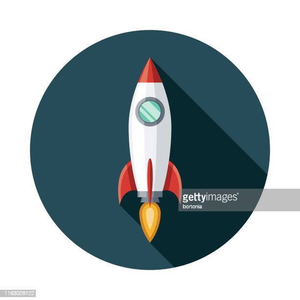 space rocket icon - spaceship stock illustrations