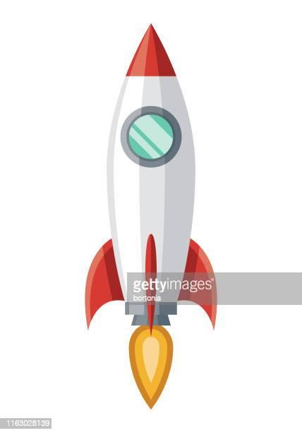 space rocket icon - stapellauf stock-grafiken, -clipart, -cartoons und -symbole