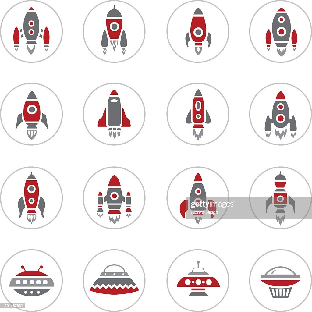 Space Rocket Icons