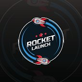 Space rocket ship icon