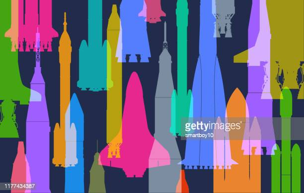 space rockets - launch event stock illustrations