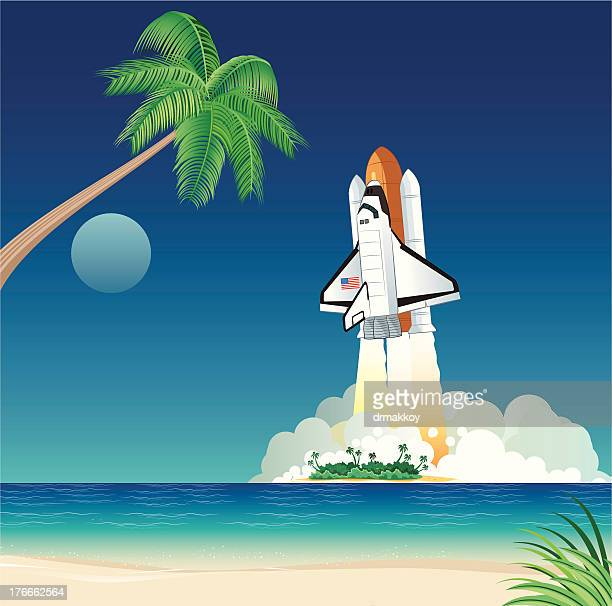 space shuttle - space shuttle atlantis stock illustrations