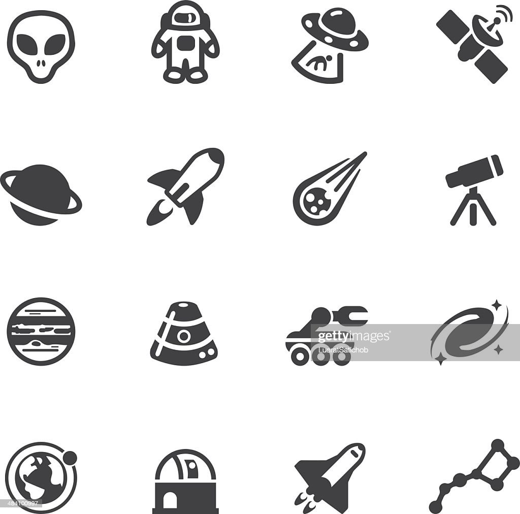 Raum Silhouette icons : Stock-Illustration
