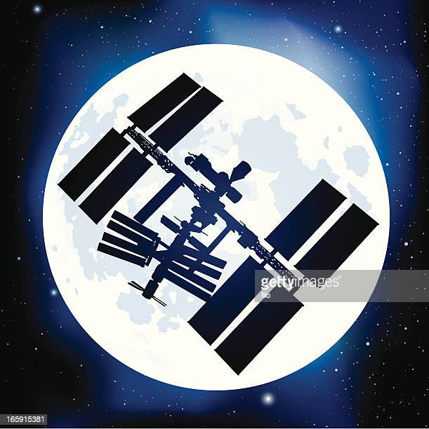 space station - space station stock illustrations