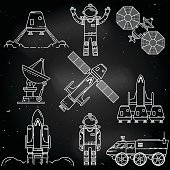 Space thin line icon