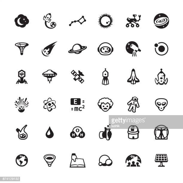 Space Travel and Exploration icon set