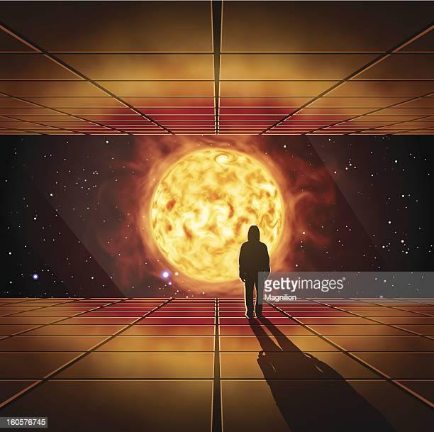 space travel - corona sun stock-grafiken, -clipart, -cartoons und -symbole