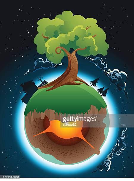 raum-tree - lava stock-grafiken, -clipart, -cartoons und -symbole