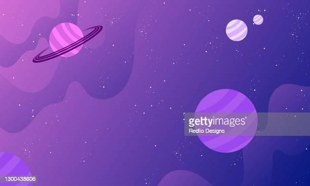 raum mit planets-hintergrund - weltraum und astronomie stock-grafiken, -clipart, -cartoons und -symbole