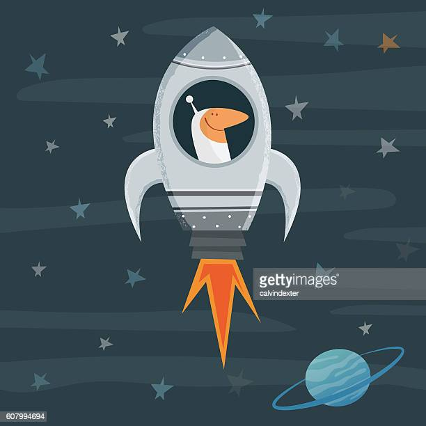 spaceman in a spaceship - astronaut stock illustrations, clip art, cartoons, & icons